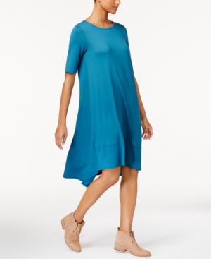 Eileen Fisher Stretch Jersey Asymmetrical Dress, Regular & Petite In Nile