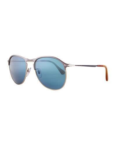 2d6abcb0cc Persol Po7359S Mirrored Rectangular Sunglasses