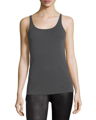 a8133dd16f Eileen Fisher Scoop-Neck Stretch Silk Jersey Cami In Bark | ModeSens