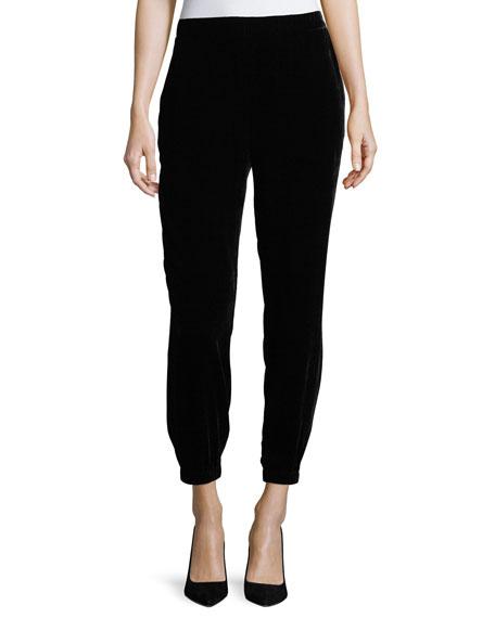 b5c22a702d656a Eileen Fisher Velvet Ankle-Length Leggings, Available In Regular & Petite  Sizes In Black