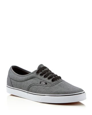 Vans Lpe Lace Up Sneakers In Black/ True White