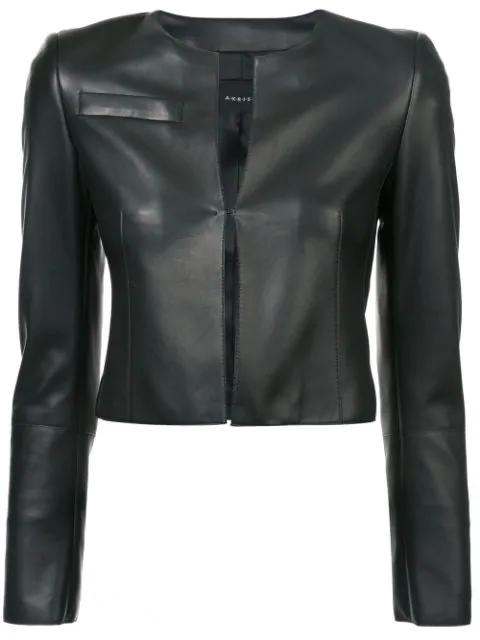 In Hasso BlackModesens Jacket 009 Akris Cropped Leather 8vOmNn0w