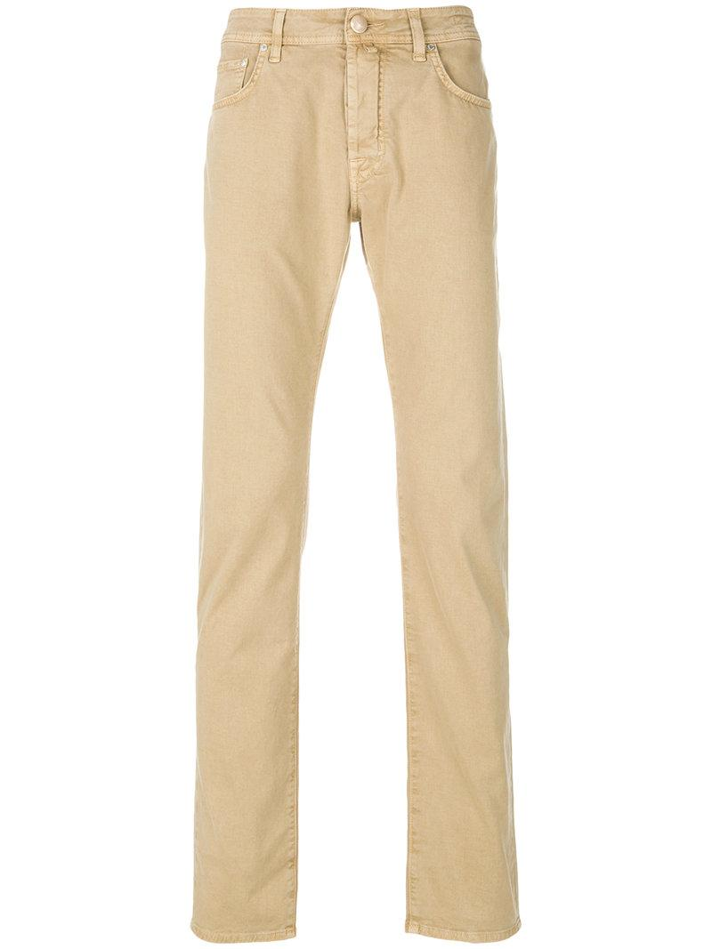 Jacob Cohen Classic Fitted Chinos - Neutrals In Nude & Neutrals