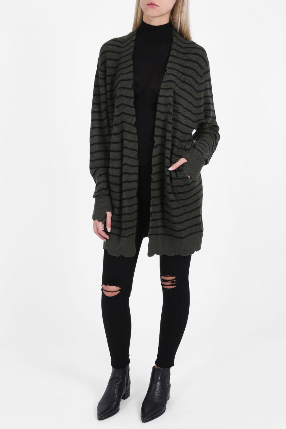 Rta Serge Striped Cardigan