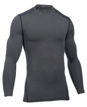 Under Armour Men's Coldgear Mock Neck Long-Sleeve T-Shirt In Carbon