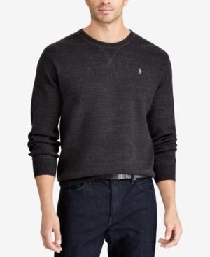 Polo Ralph Lauren Men's Big & Tall Crew-Neck Sweater In Polo Black Heather