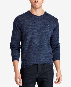 Polo Ralph Lauren Men's Big & Tall Crew-Neck Sweater In Midnight Navy Heather