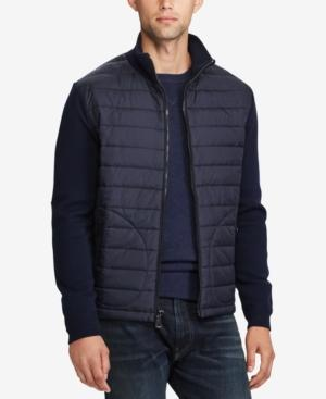 Polo Ralph Lauren Men's Paneled Merino Wool Full-Zip Jacket In Piper Navy