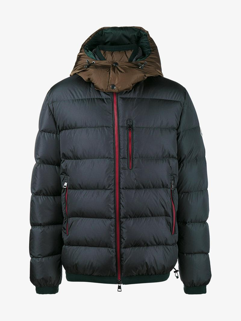 Moncler Grey Quilted Feather Down Jacket