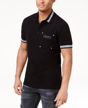 Versace Jeans Men's Logo Polo In Black