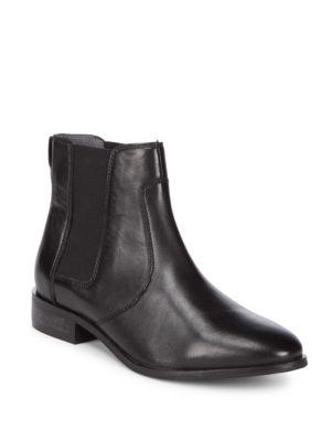 Seychelles Beatrix Almond Toe Leather Booties In Black