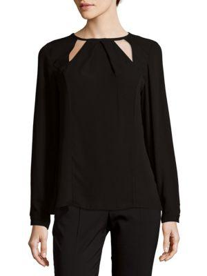 Ramy Brook Eve Long-Sleeve Top In Black
