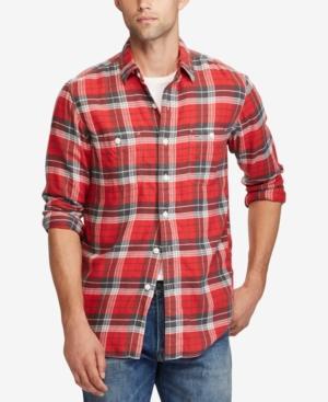 Polo Ralph Lauren Men's Standard-Fit Workshirt In Red/Grey Multi
