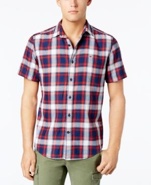 Tommy Hilfiger Men's Classic-Fit Bold Plaid Shirt In Navy