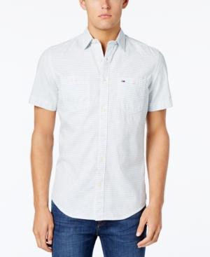 Tommy Hilfiger Men's Classic-Fit Rail Stripe Shirt In White