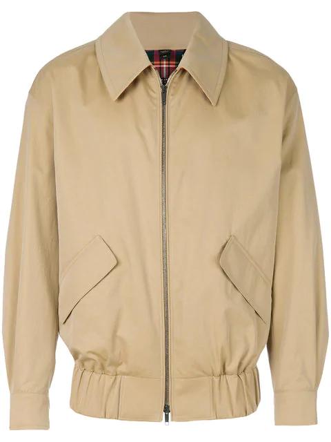 Burberry Runway Ss18 Cotton Jacket In Honey