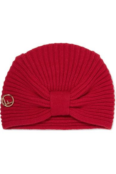 Fendi Ribbed Wool Turban