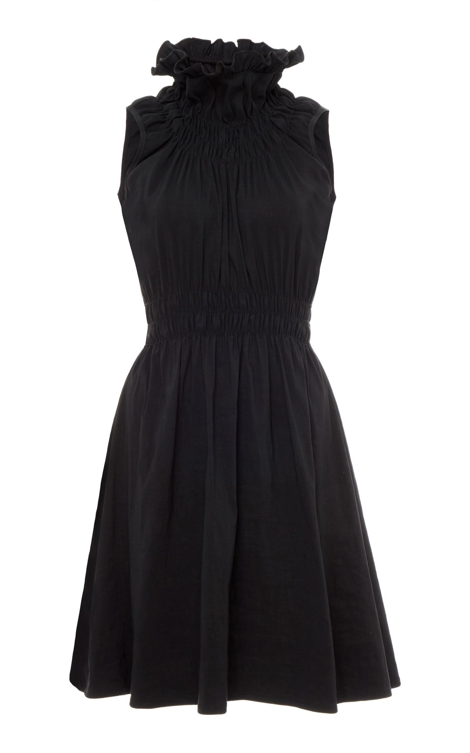 Beaufille Ossa Turtleneck Mini Dress In Black