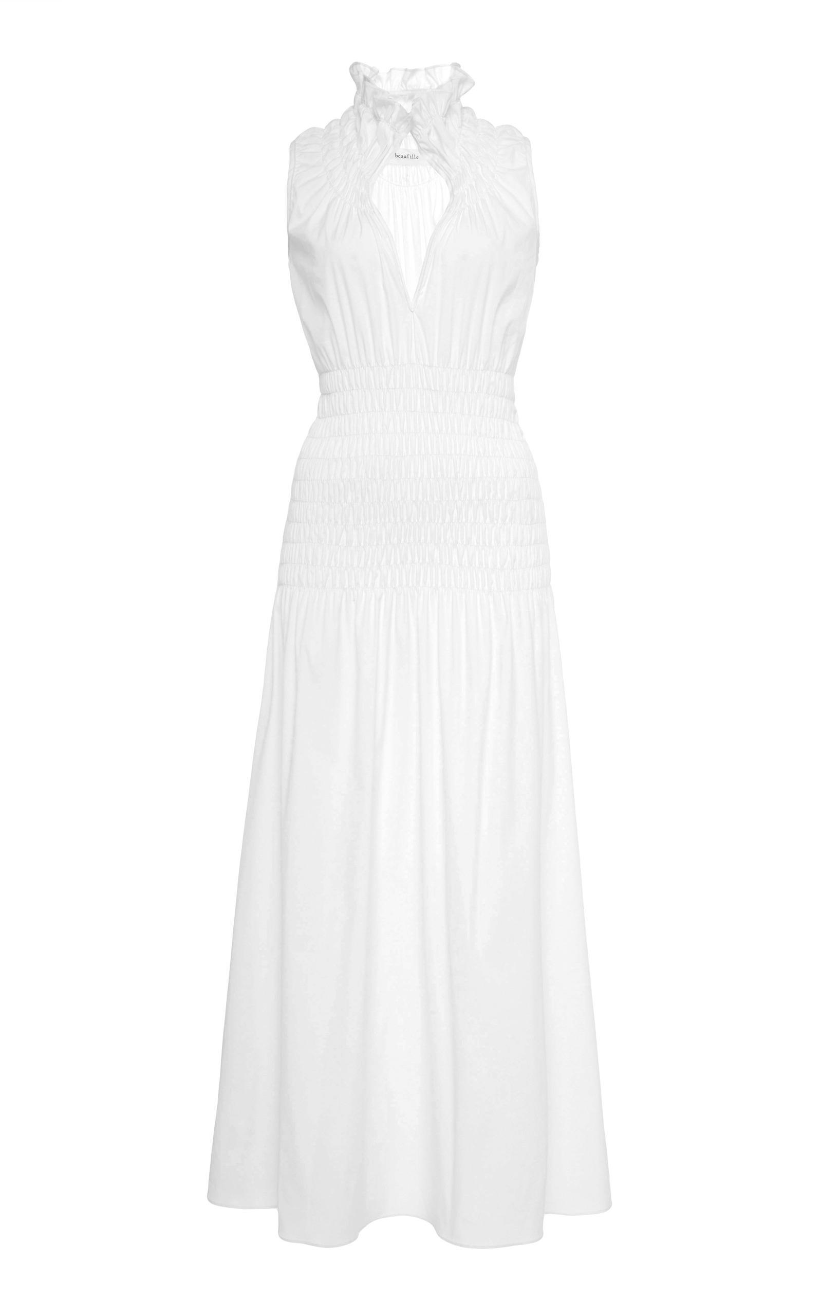 Beaufille Daphne Poplin Dress In White