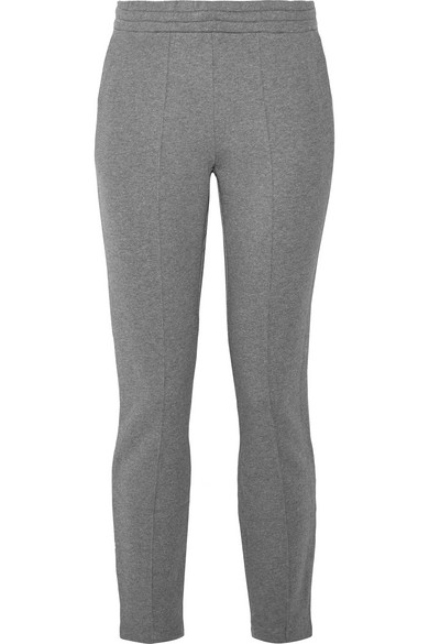T By Alexander Wang French Cotton-Terry Track Pants In Anthracite