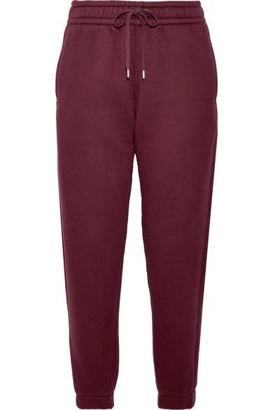 T By Alexander Wang Cotton-Blend Fleece Track Pants