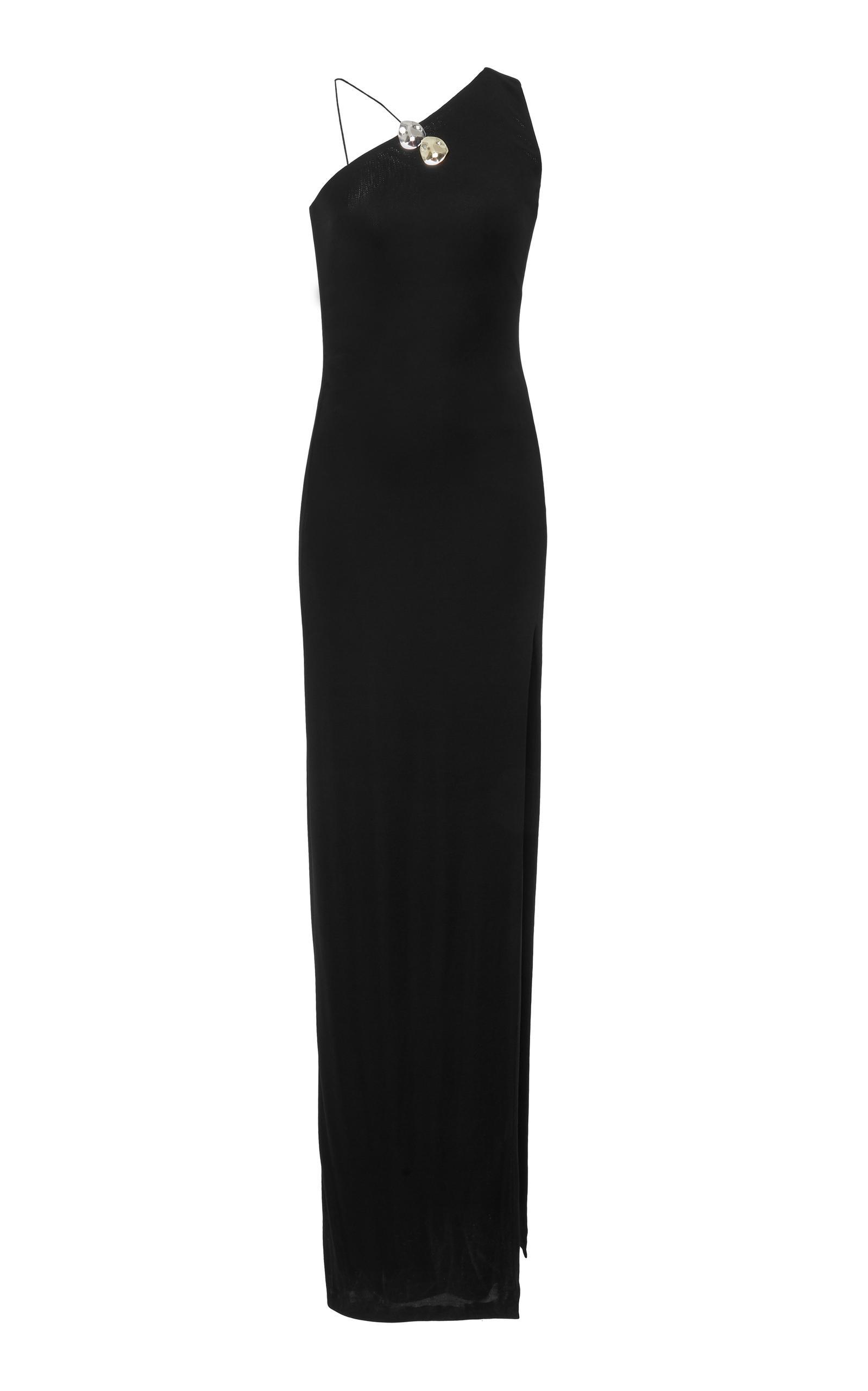 Cushnie Et Ochs Kala One Shoulder Gown In Black
