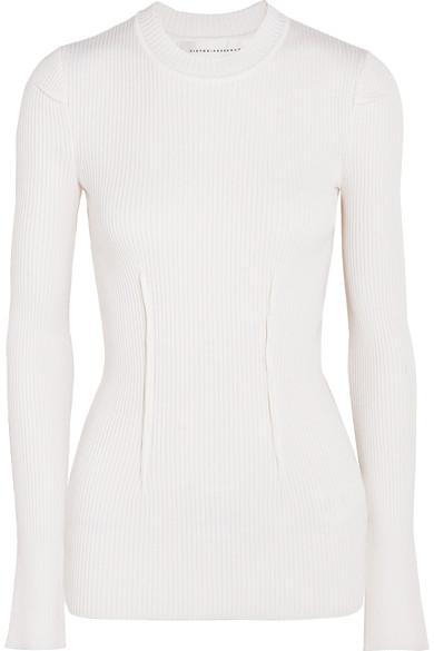 Victoria Beckham Ribbed-Knit Top