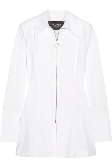 Paper London Soleil Stretch Cotton-Poplin Shirt