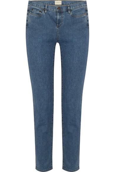 Simon Miller W003 Atlee Mid-Rise Slim-Leg Jeans In Mid Denim