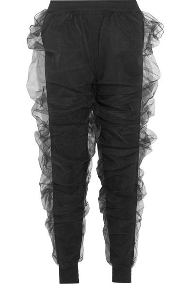 Y/Project Tulle And Cotton-Terry Track Pants