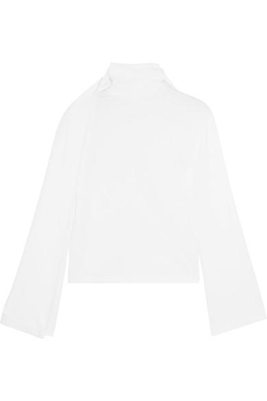 Y/Project Layered Cotton-Jersey Turtleneck Top