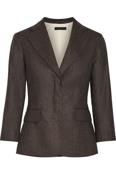 The Row Spattan MÉLange Wool-Blend Felt Blazer