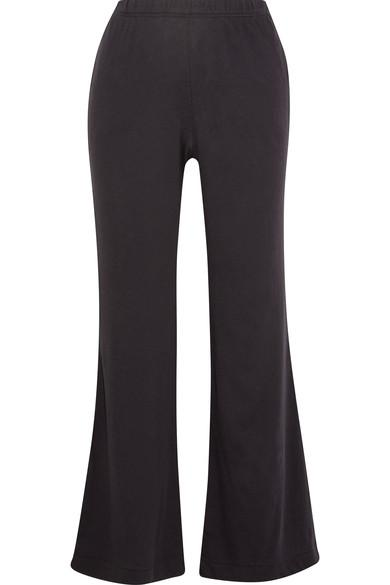 Skin Larisa Organic Pima Cotton Pajama Pants In Dark Purple