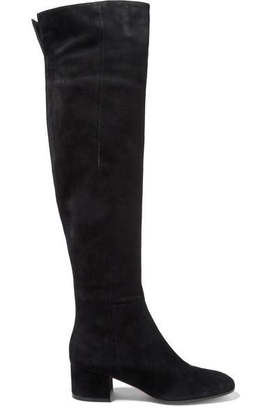 Gianvito Rossi 45 Suede Over-The-Knee Boots