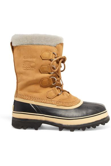 Sorel Caribou Waterproof Suede And Rubber Boots