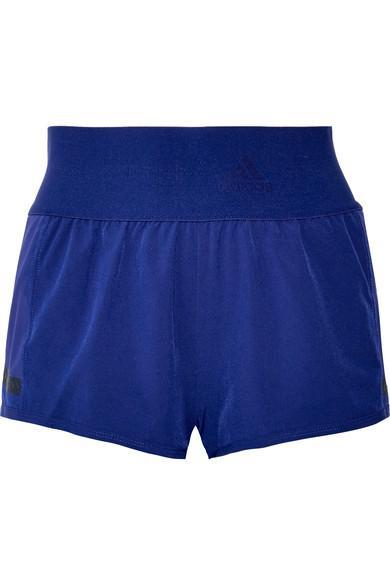 Adidas By Stella Mccartney Climacool Train Mesh-Trimmed Stretch Shorts In Royal Blue