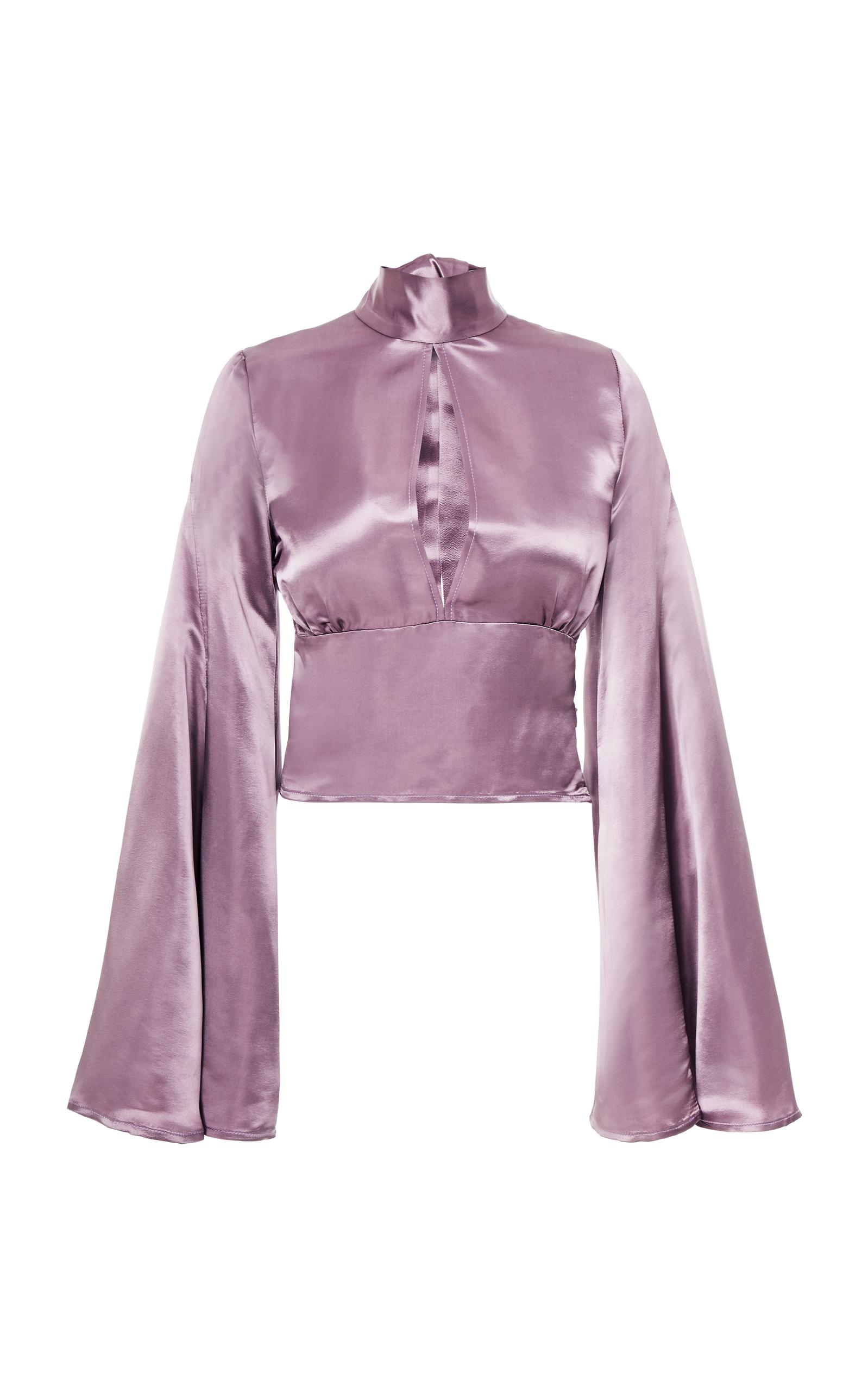 Beaufille Canes Satin Blouse In Purple