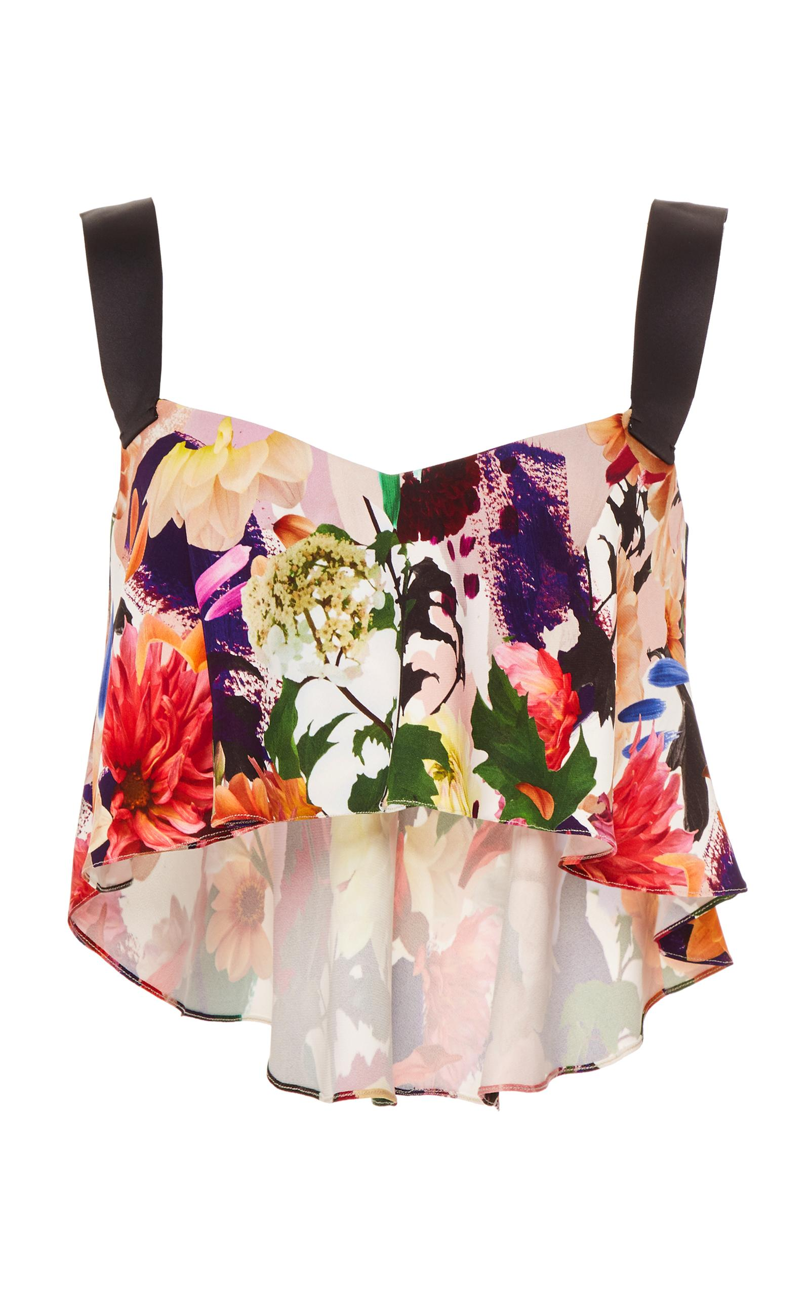 Cushnie Et Ochs Nuri Cropped Top In Floral