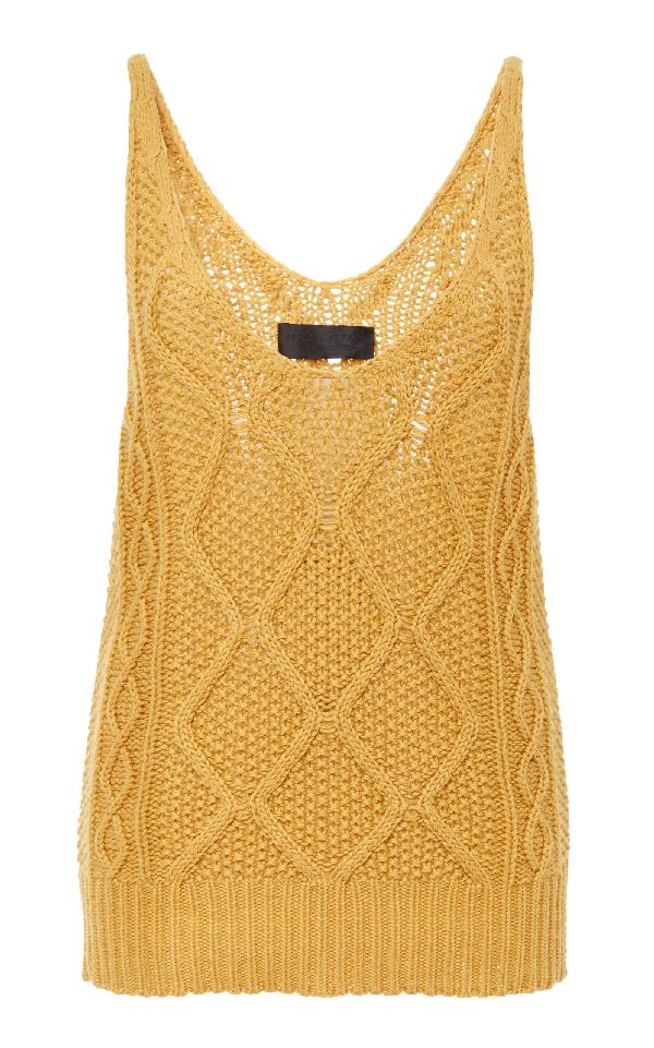 Nili Lotan Laredo Knitted Tank In Yellow