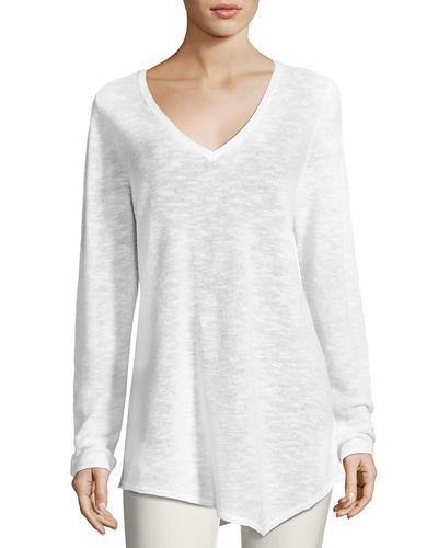 Eileen Fisher Long-Sleeve Organic Links Tunic, Petite In White