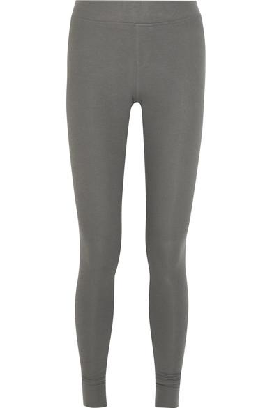 Atm Anthony Thomas Melillo Ribbed Stretch-Micro Modal Leggings In Gray