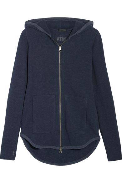Atm Anthony Thomas Melillo French Cotton-Blend Terry Hooded Top