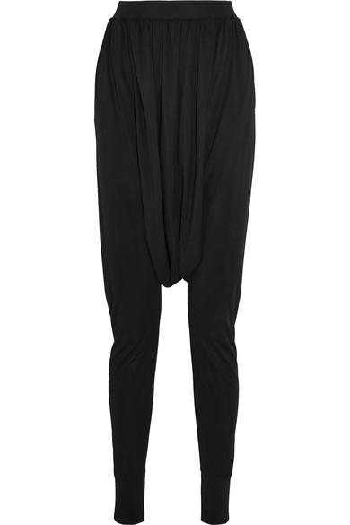 Balmain Sarouel Jersey Tapered Pants In C0100 Black