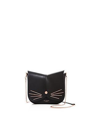Ted Baker Kittii Cat Leather Crossbody Bag - Black