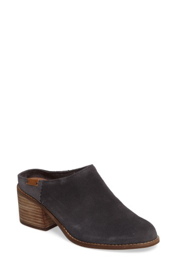 Toms Leila Mule In Forged Iron Grey