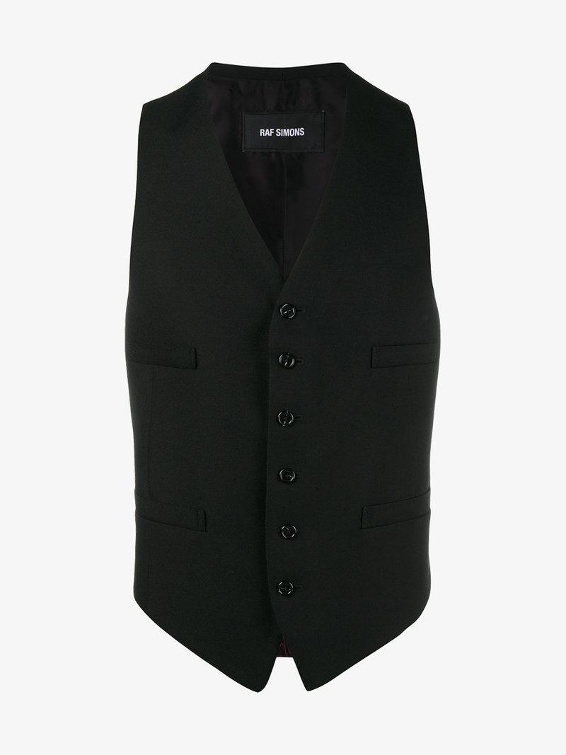 Raf Simons Black Classic Waistcoat