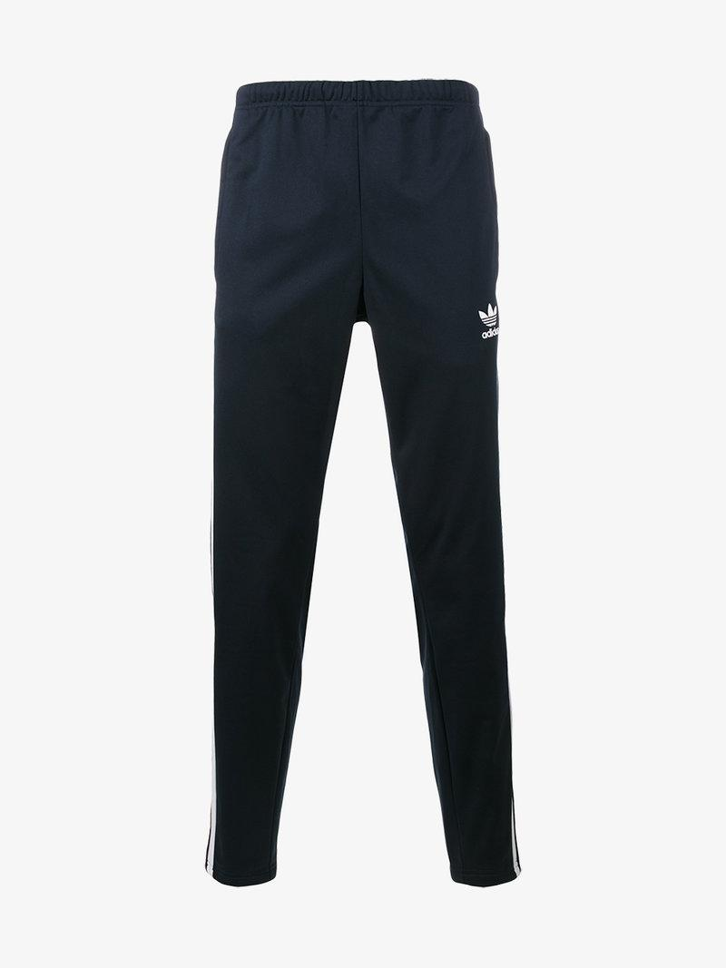 Adidas Originals Navy Adibreak Popper Track Pants In Blue