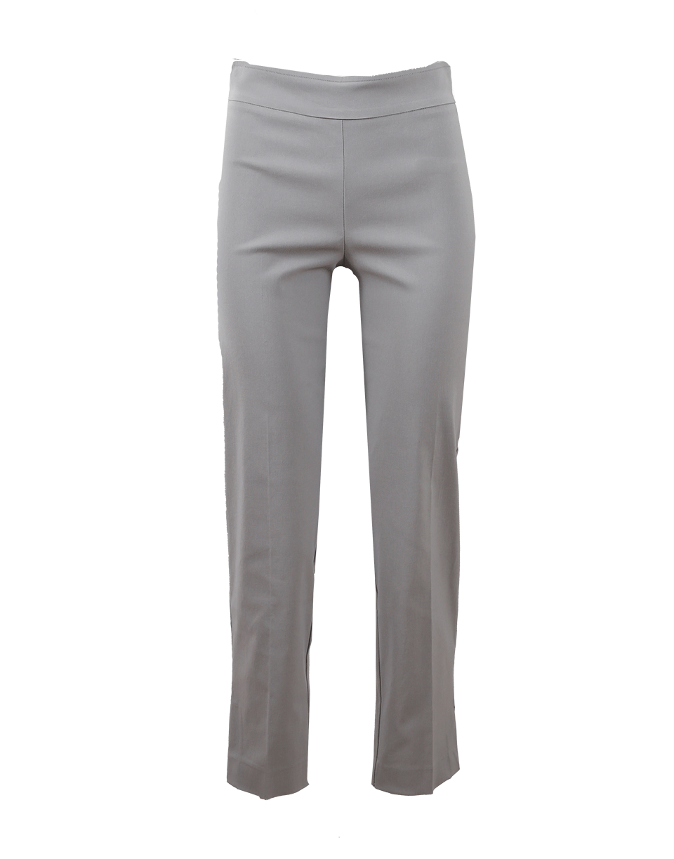 Avenue Montaigne Venezia Pull-On Ankle Slit Pant In Lghtgrey