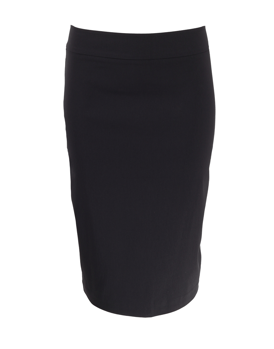 Avenue Montaigne Pull-On Stretch Pencil Skirt In Black