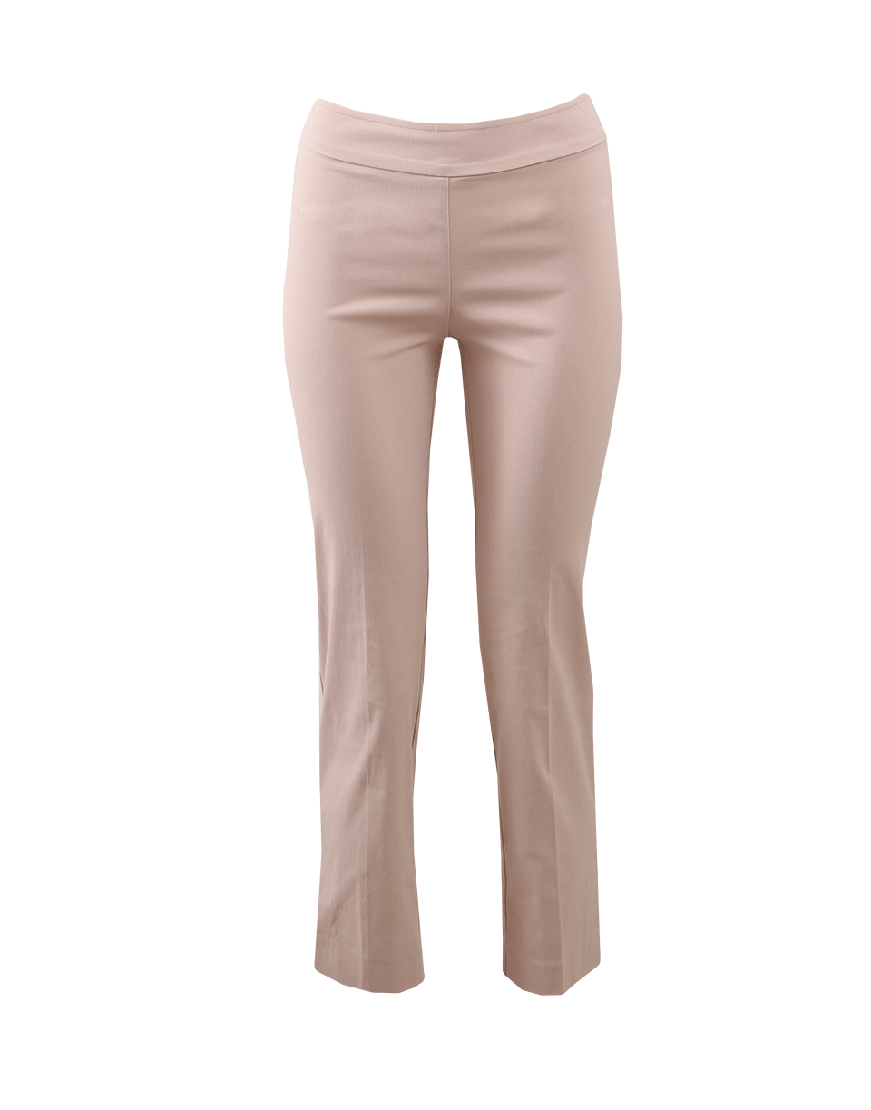 Avenue Montaigne Venezia Pull-On Ankle Slit Pant In Blush